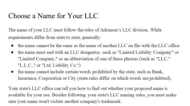 How to Form an LLC in Arkansas 2