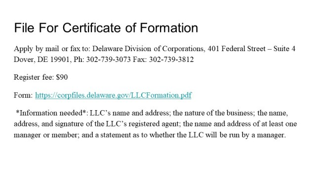 How to form an LLC in Delaware 3