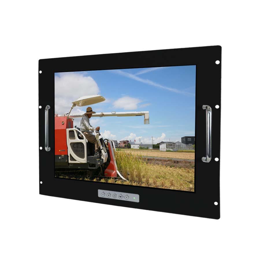 15英吋 工業級手把安裝鋁前框液晶螢幕