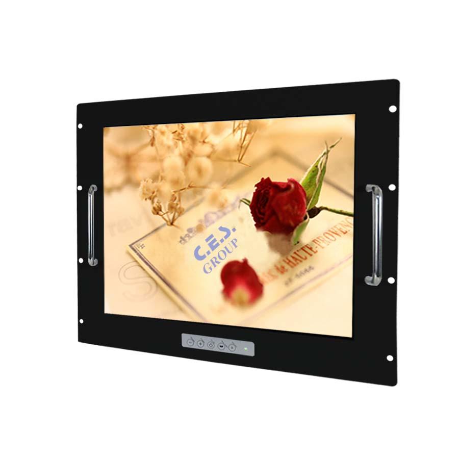 20.1英吋 工業級手把安裝鋁前框液晶螢幕