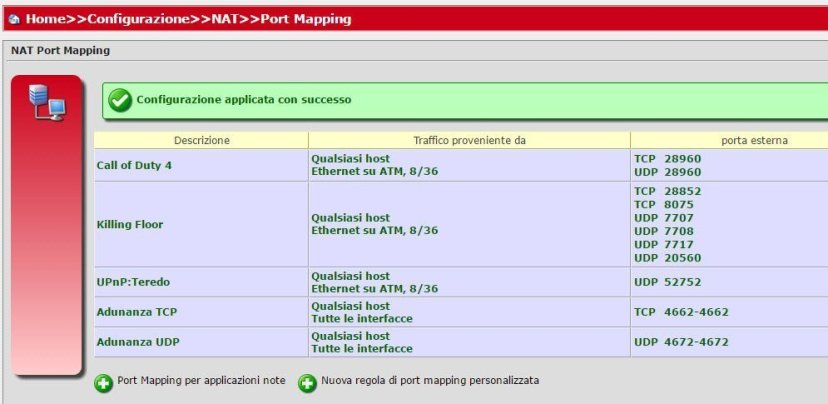 Mapping-Porte-Router-Fastweb