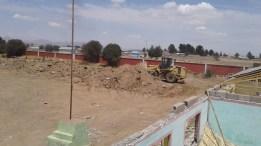 Trabajos preliminares de la nueva construcción de la I.E.
