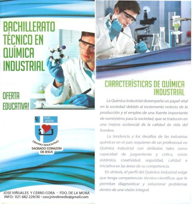Nueva Especialidad: Bachillerato Técnico en Química Industrial