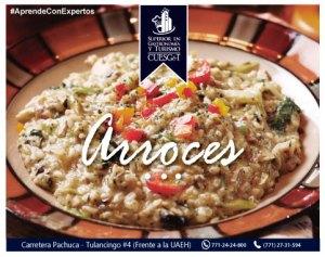 Platillo de arroz recién cocinado