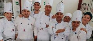 Grupo de chef profesional