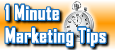 Business Blogging Ideas - 1 Minute Marketing Tips #8 - One minute, one tip, one thing you can do today to improve your marketing!