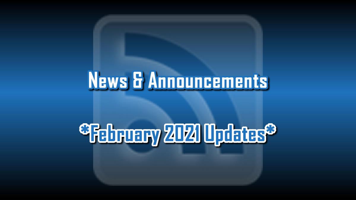 February 2021 Updates