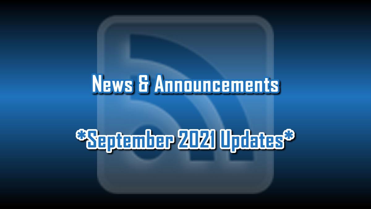 September 2021 Updates