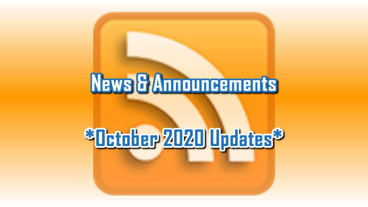 October 2020 Updates