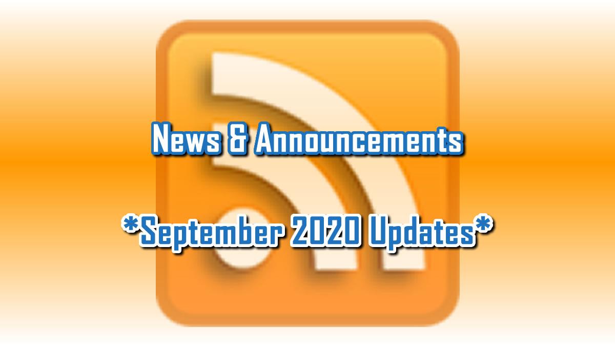 September 2020 Updates
