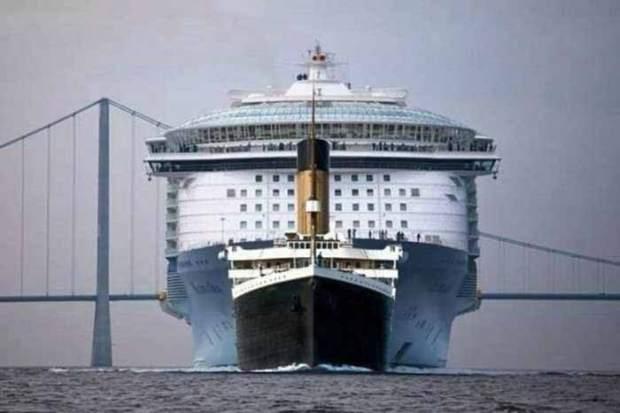 Titanic vs. vasele de croaziera moderne