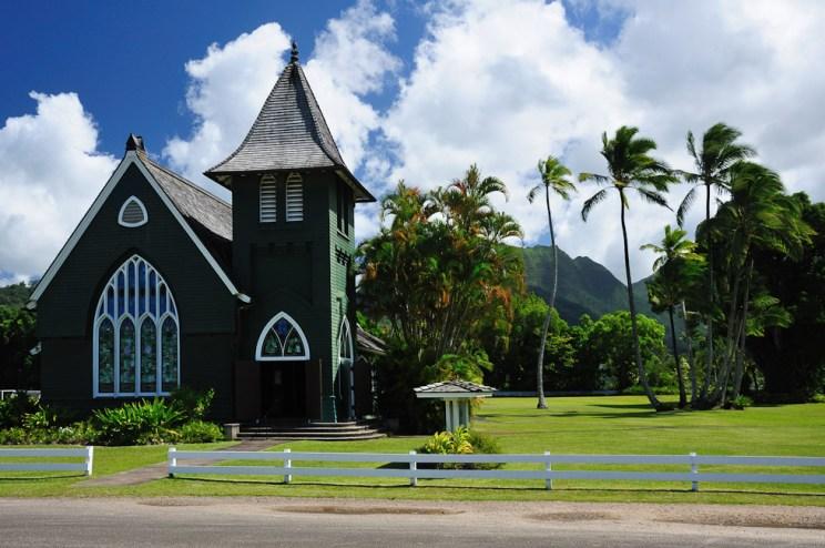 Kostelík v Hanalei