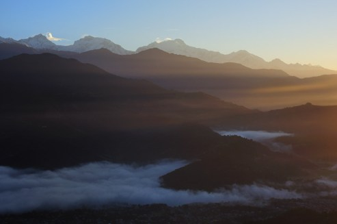 Vyhlídka na Annapurna Range