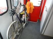 Train du retour (voiture-vélos manquante...)