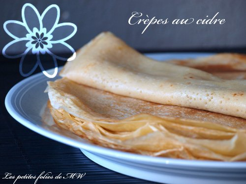5 recettes de crêpes pour la Chandeleur : crêpes au cidre
