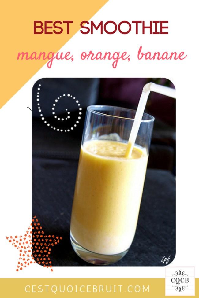 Recette de smoothie : mangue orange banane #smoothie #recette #fruits #healthy #healthyfood #recipe