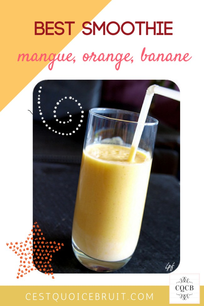Recette de smoothie : mangue orange banane #smoothie #recette #fruits #healthy #healthyfood #recipe