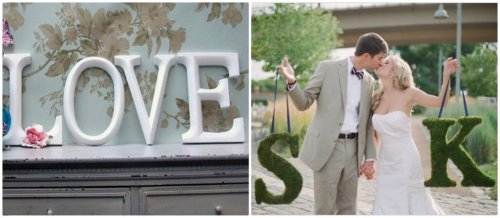 lettres décoration mariage