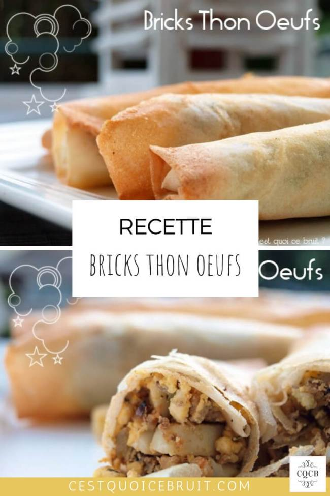 Recette brick thon œuf #recette #recipe #brick #thon #oeuf #food #cuisine