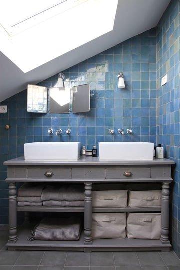 meuble salle de bain gris