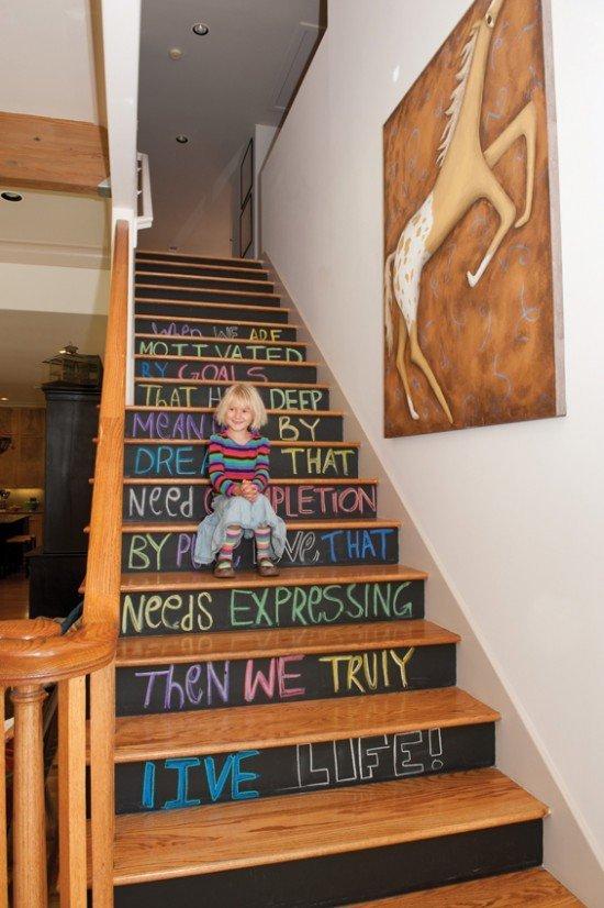Chalkboard-escaliers