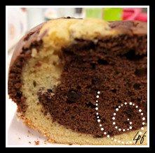 cake aux 2 chocolats