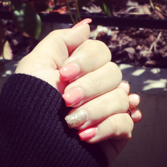ongles-corail-or