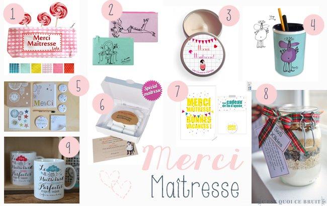 10 idées de cadeau pour la maîtresse ou l'ATSEM