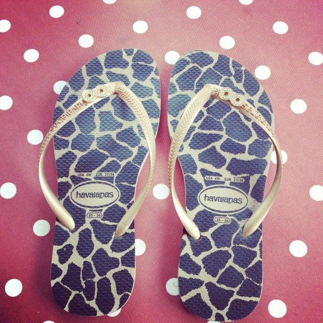 Chaussée pour l'été ! tongs havaianas