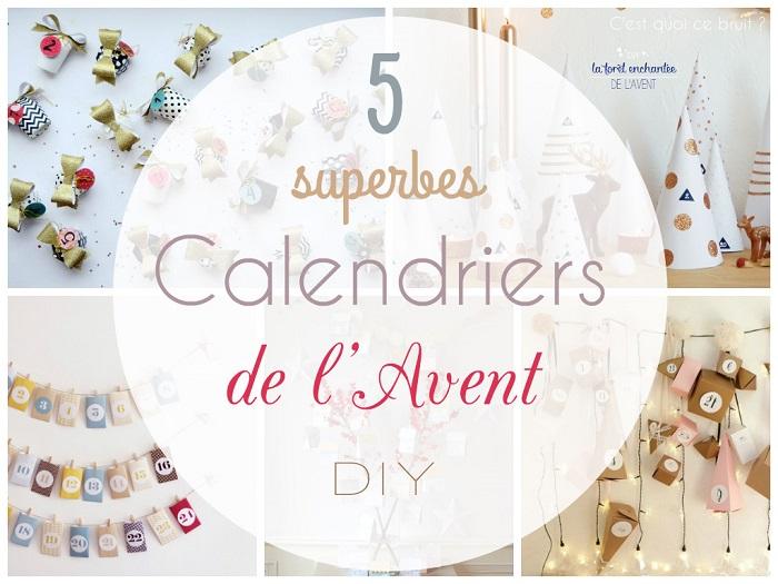 5 superbes calendriers de l'Avent (DIY)