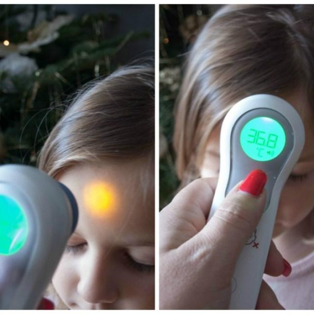 Fièvre de l'enfant et thermomètres Braun sans contact