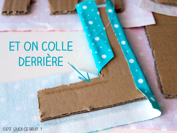 Fabriquer son prénom en lettres géantes et tissu et personnaliser une chambre d'enfant