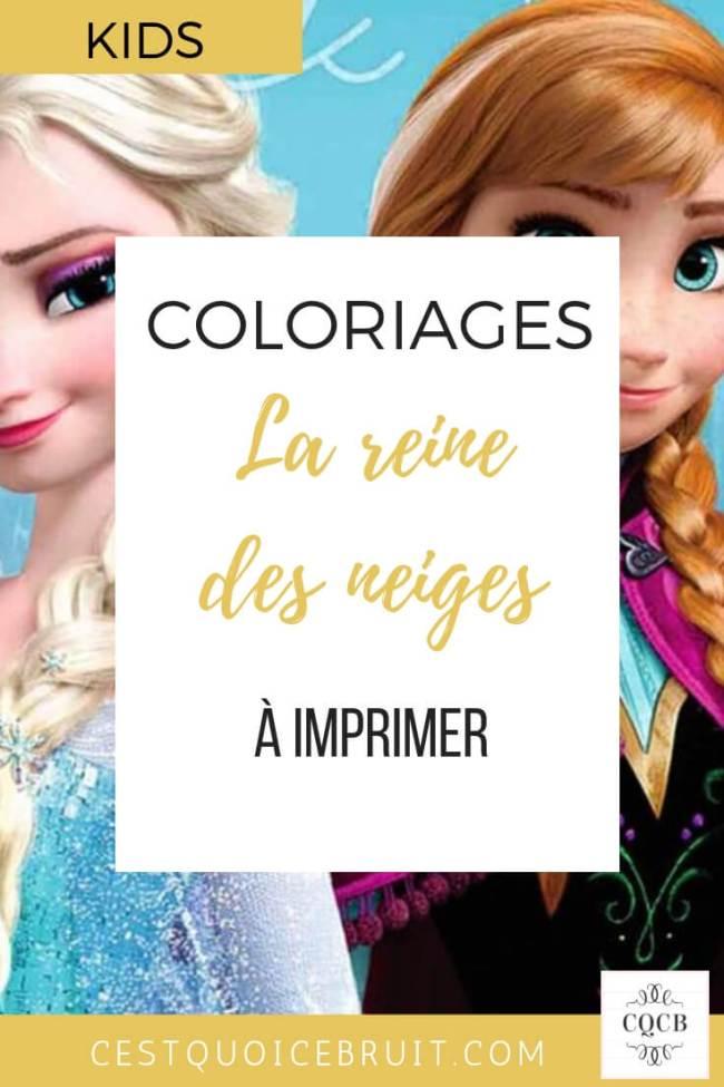 Coloriages la reine des neiges Frozen Disney à imprimer gratuitement #coloriages #frozen #disney #elsa #printable