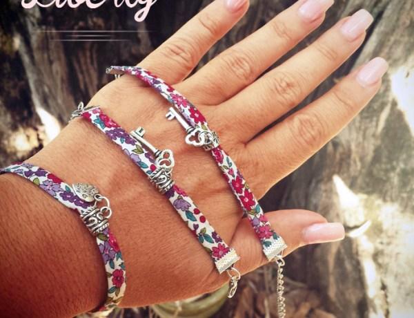 Fabriquer un bracelet en liberty mère-fille