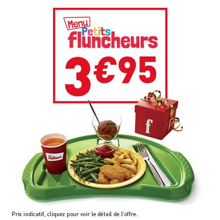 Menus Petits Fluncheurs à 3,95 € chez Flunch