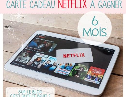 Mes séries sur Netflix : abonnement de 6 mois Netflix à gagner