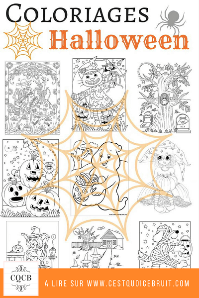Coloriages Halloween à imprimer gratuitement sur https://cestquoicebruit.com #coloriages #halloween