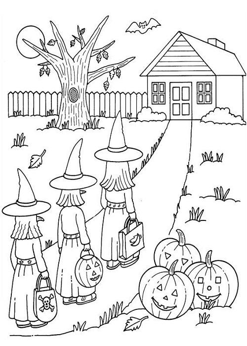 Coloriage Halloween à imprimer gratuitement