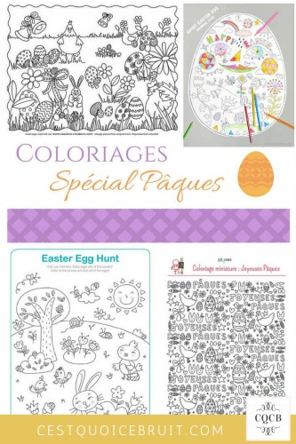 Coloriages de Pâques gratuits #coloriages #paques #kids #activités