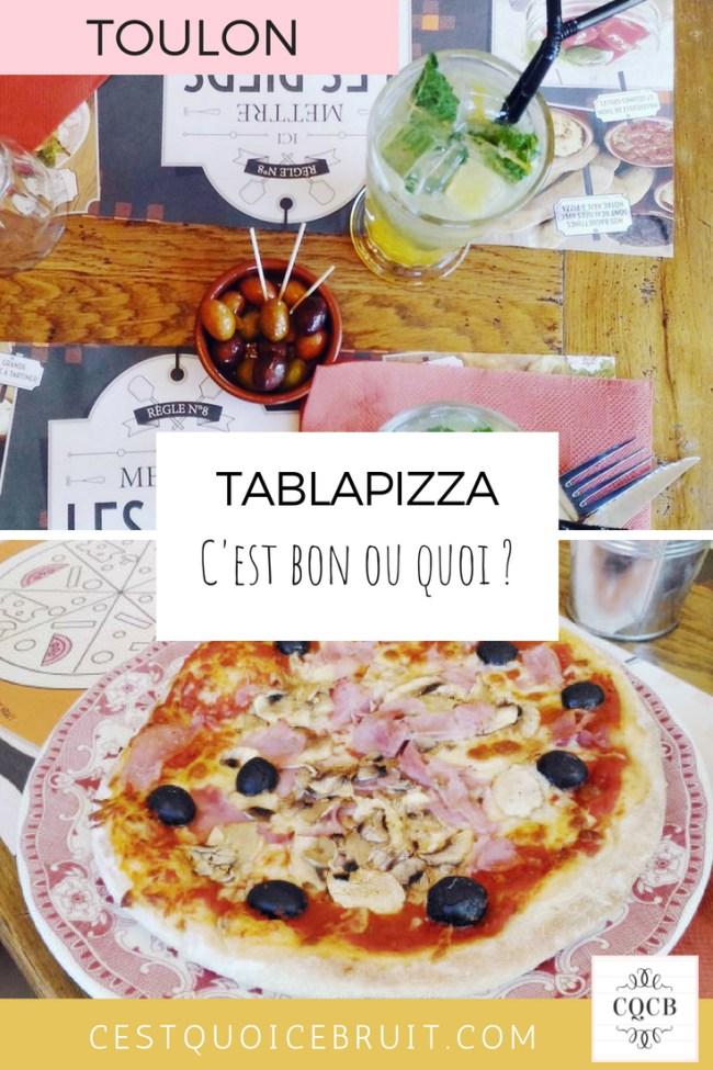 Adresse Toulon, notre avis mitigé sur le restaurant Tablapizza #tablapizza #toulon #var #blogvarois