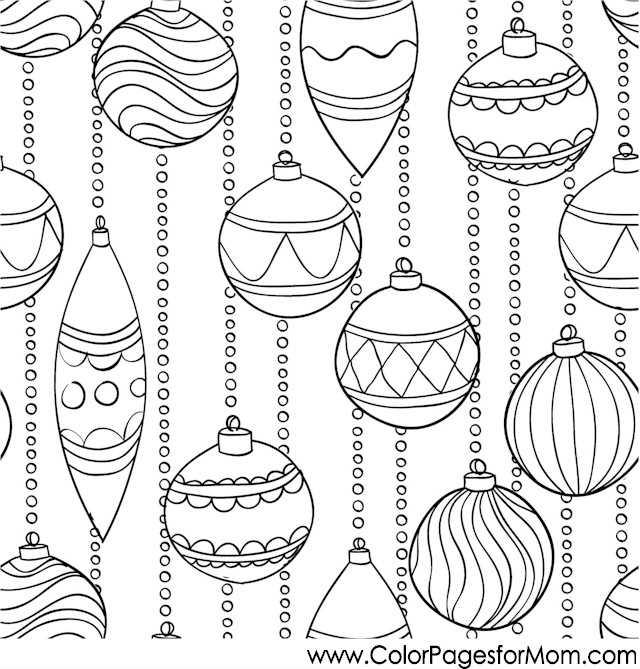 Coloriage Noël à imprimer gratuitement : guirlandes
