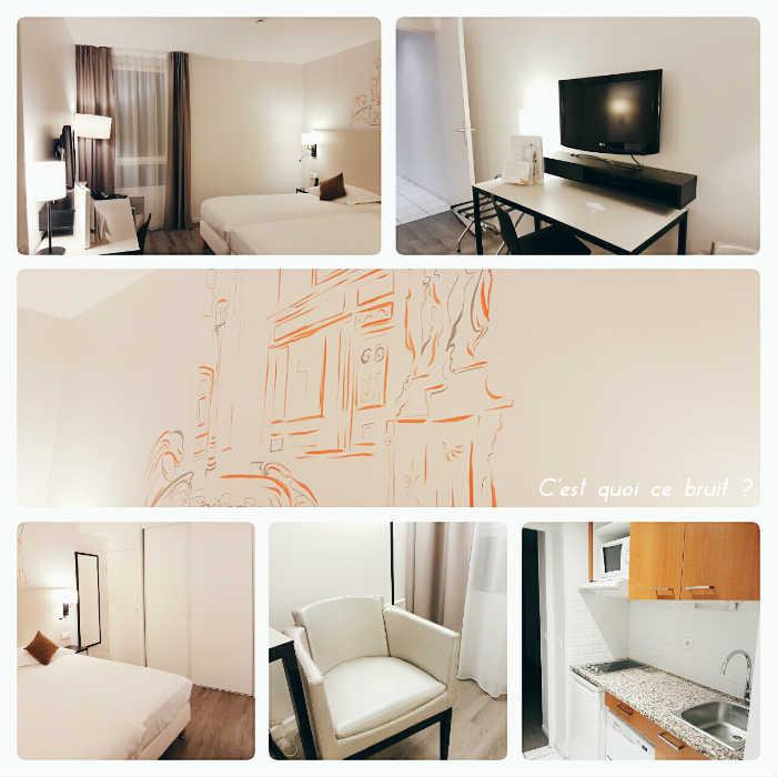 Une nuit à l'hôtel Citadines Montmartre Paris : une chambre confortable et fonctionnelle