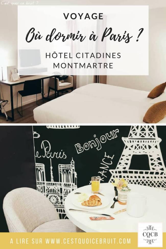 Où dormir à Paris ? J'ai testé l'hôtel Citadines Montmartre #paris #hotel #voyage #travel #france