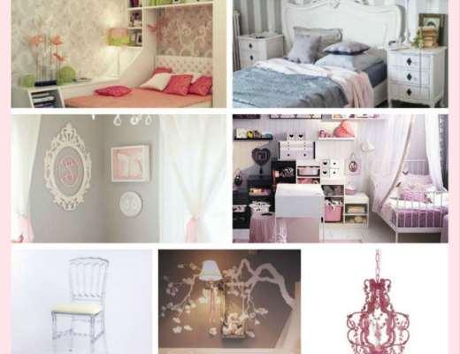 Détails baroques pour une décoration romantique réussie dans une chambre de fille