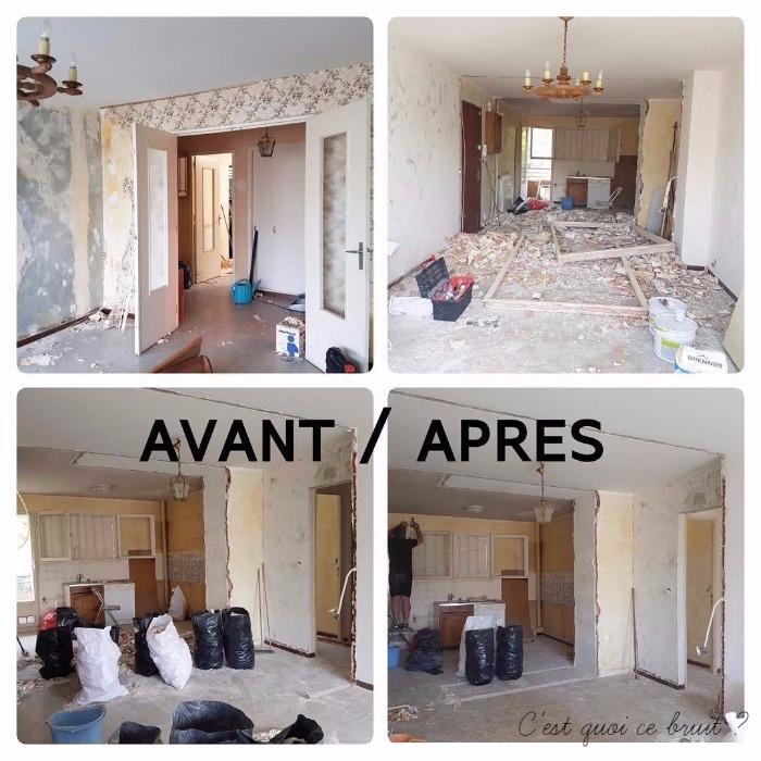 Avant après les travaux de rénovation de l'appartement
