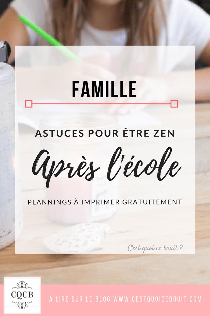 Blog famille : organisation pour être zen après l'école et faire les devoirs sans stress #famille #zen #organisation #feelgood #école #organisation #devoirs