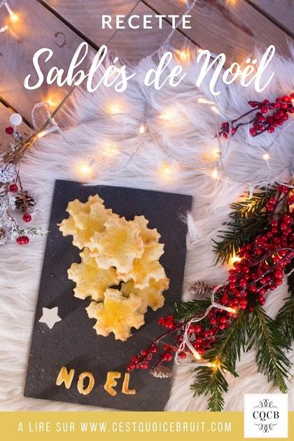 Recette facile de sablés de Noël à faire avec les enfants pour cuisiner en famille #recette #recipe #noël #biscuits #sablés #biscuitsdenoel