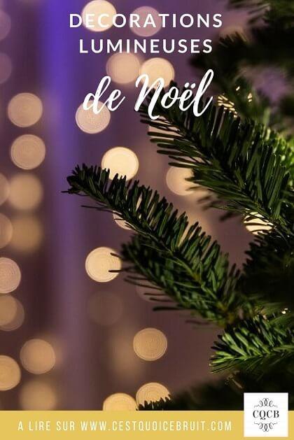 Décorations lumineuses de Noël