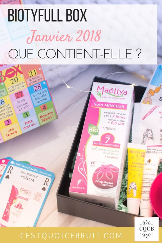 Biotyfull box janvier 2018 #box #beauté #revue #blog #biotyfullbox
