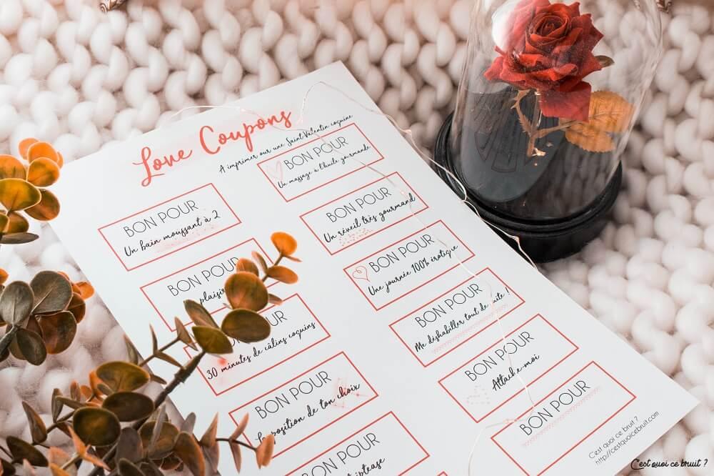 Love coupons de Saint Valentin à imprimer